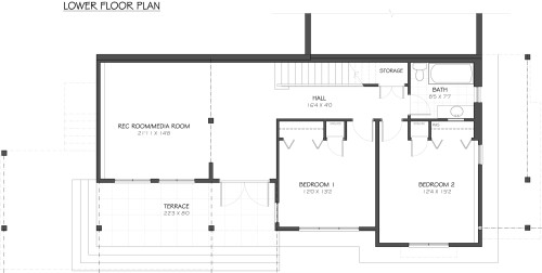 Cowichan - Lower Floor Plan