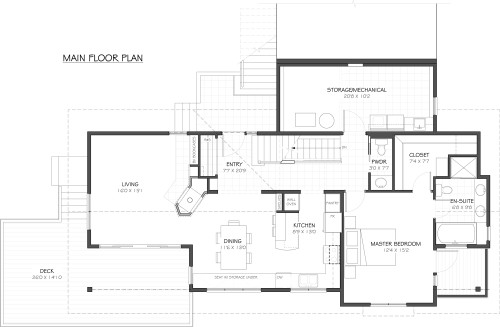 Cowichan - Main Floor Plan