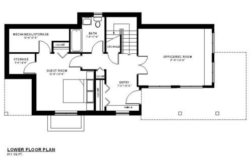 Galena Lower Floor Plan