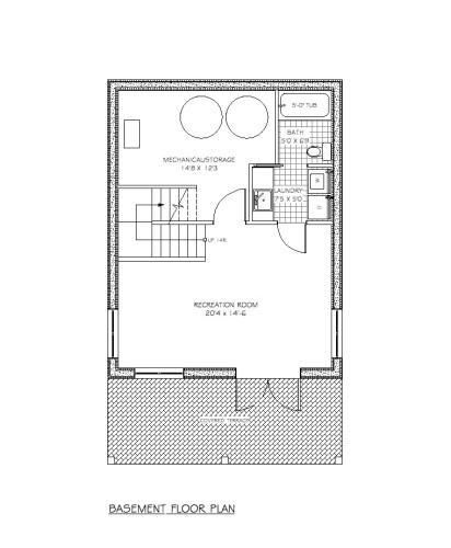 Lasqueti Basement Floor Plan