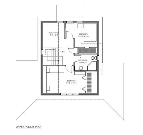 Lasqueti Upper Floor Plan