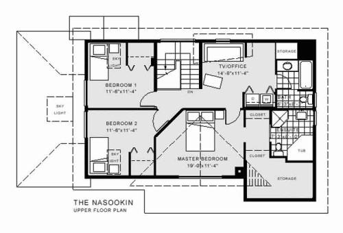 Nasookin Upper Floor Plan