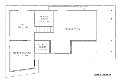 Pender Upper Floor Plan