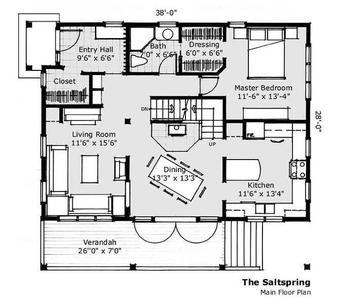 Salt spring main floor plan john gower design for Ron lee homes floor plans