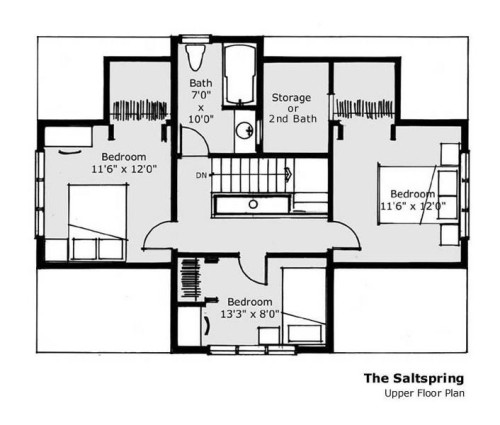 Salt Spring Upper Floor Plan