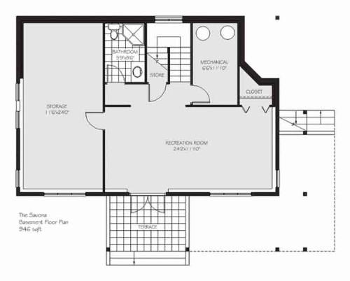 Savona Basement Floor Plan