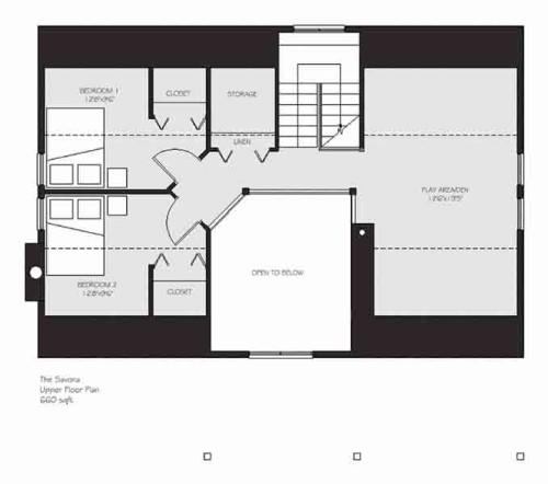 Savona Upper Floor Plan