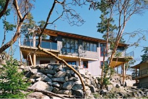 It takes a lot of imagination to look at this hilly rockpile and see the foundation for an elegant home. Luckily, these clients had just that. Designers and homeowners alike take special pride in accomplishing the seemingly-impossible with a site like this.
